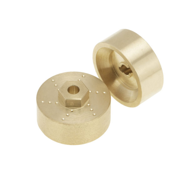 Axial SCX24 6mm Brass Wheel Counterweight with Widen Axles Image 1