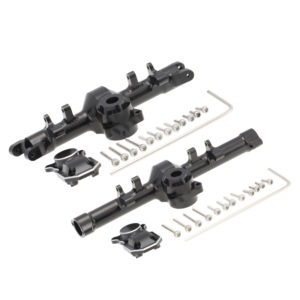 Axial SCX24 Aluminum Alloy Front and Rear Axle Housing Black with Cover 1set Image 1