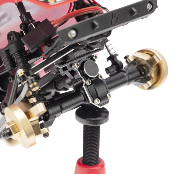 Axial SCX24 Aluminum Alloy Front and Rear Axle Housing Black with Cover 1set Image 3