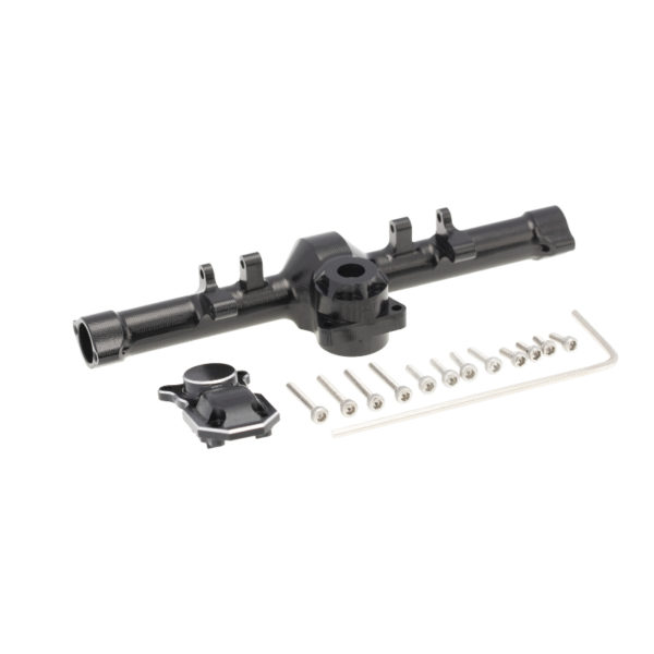 Axial SCX24 Aluminum Alloy Rear Axle Housing Black with Cover 1pc Image 2