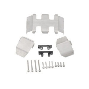 Axial SCX24 Stainless Steel Chassis Armor Skid Plate Guard Parts 3pcs/set Image 1